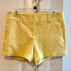 Ann Taylor Yellow Diamond Print Shorts - EUC - 6P